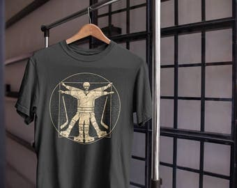 Funny Hockey T Shirt - Vitruvian Hockey Shirt - Hockey Lover Gift - Vintage Hockey Tee - Hockey Gifts