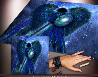 Crystal Grid Cloth - Archangel Michael - Crystal Meditation Energy Grid