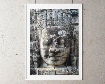 Bayon Temple Face Printable Art