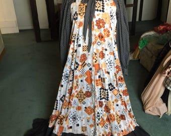 Jean Varon vintage dress with bow neckline