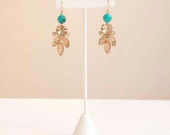 Rhinestone and Turquoise Earrings
