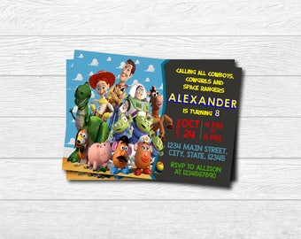 Toy Story Printed Invitation, Toy Story , Toy Story Birthday, Woody , Woody Printed Invitation, Toy Story, Woody Toy Story, Buzz Lightyear