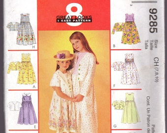 9285 McCalls Girls Dress & Jacket Sewing Pattern
