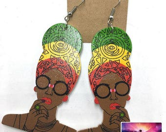 Cultural Head Wrap Sister Drop and Dangle Earrings African Jewelry Jewellery