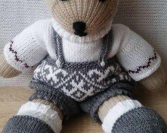 Knitted toys, souvenir, knitted bear, souvenir bear, knitted Teddy bear, knitted souvenir bear