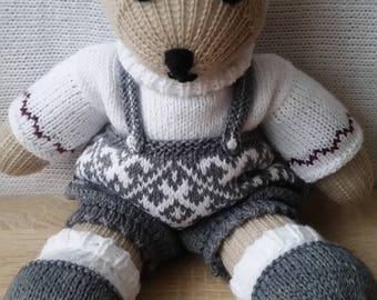 Knitted toys, souvenir, knitted bear, souvenir bear, knitted Teddy bear, knitted souvenir bear