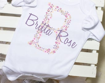 Custom baby onesie etsy personalized baby gift name onesie baby shower gifts monogram baby girl negle Gallery
