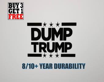 Pick Size/Color | DUMP TRUMP Outdoor Sticker |  Window Bumper Decal | Political Lot Sticker