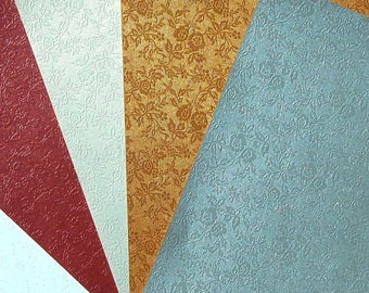 set of 4 sheets of paper A5 metallic appearance (J)