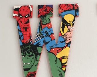 Marvel Superhero Custom Letters Hanging Wall Home Decor
