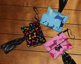 Doggy poop bag and treat tote