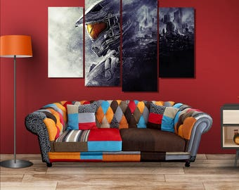 Halo 5 Poster Canvas Wall Art Wall Decor Framed Wall Art Home Decoration Large Canvas panels stretched room decor Video Game