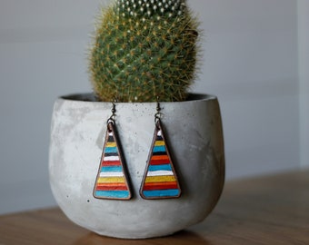 Serape Collection Tamara Earrings | Leather Earrings | Birthday Gift | Anniversary | Gifts under 25 | Handmade | Gifts for Her
