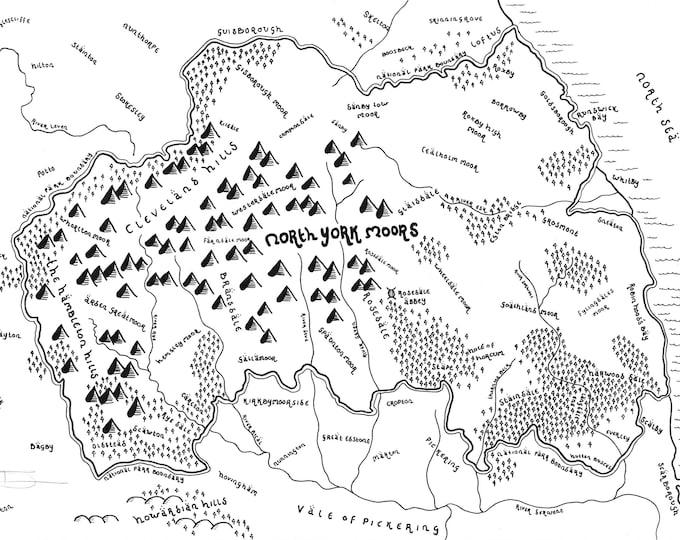 North York Moors National Park - Giclée Print