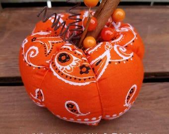 Orange Bandana Pumpkin