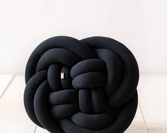 ROSA Knot cushion - black