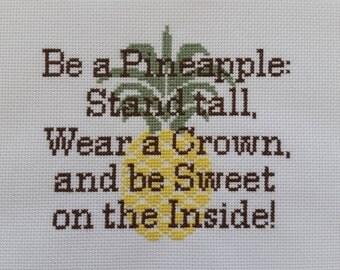 Pineapple Quote Cross Stitch