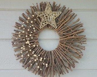 how to make a twig star wreath
