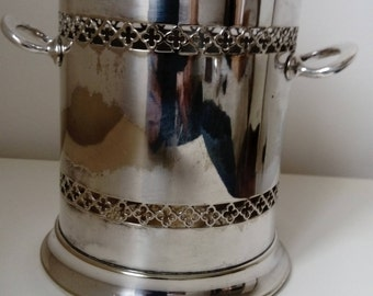 vintage epns silver plated wine holder