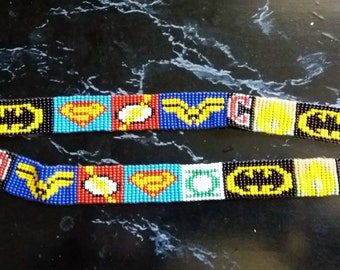 DC Superhero Loom Beaded Key Lanyard