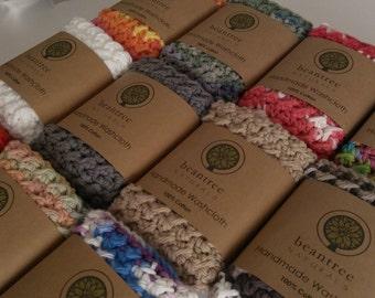 Set of 2 100% Cotton Washcloths - Choose Your Color - Housewarming Gift - Hostess Gift - Stocking Stuffer - Secret Santa Gift