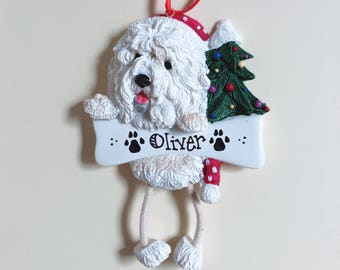 Old English Sheepdog Dog Personalized Christmas Ornament