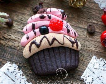 Сake brooch sweetness jewelry of polymer clay raspberries brooch blueberries brooches blackberry idea gifts with berries handmade brooch
