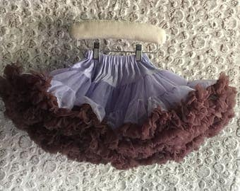 FREE S&H - PETTISKIRT, Lilac/Brown