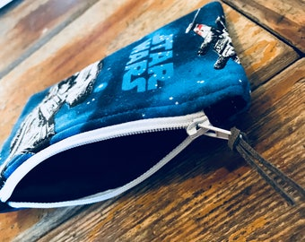 Star Wars Pouch with Key Ring,Credit Card Pouch,Small Star Wars bag,Star Wars Pouch,Star Wars Coin Pouch,cute coin purse,cute coin pouch,