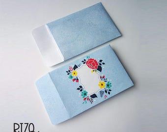Scrapbook envelope, Money Envelope, Printable envelope, Gift Envelope, Tiny envelope, Gift card envelope, Cash envelope, Printable Envelope