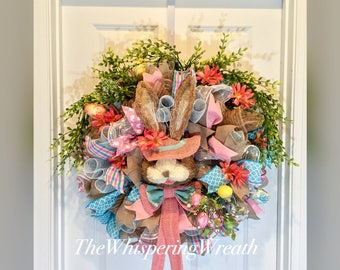 Easter Wreath - Bunny Wreath - Spring Wreath