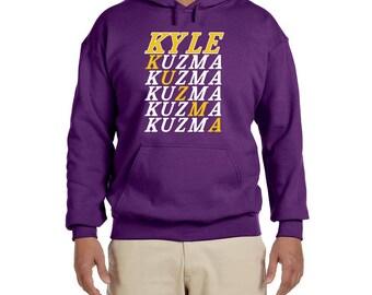 Kyle Kuzma Text High quality Hooded sweat shirt