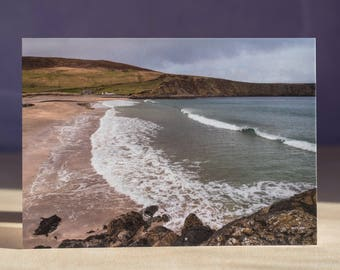 Norwick Beach Blank Greeting Card Unst Shetland Scotland