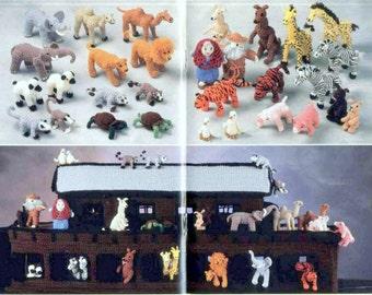 Vintage Crochet Patterns Noah's Ark Amigurumi Playset PDF Instant Digital Download Animals People and Large Ark!