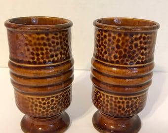 Vintage ceramic stoneware cups, mugs