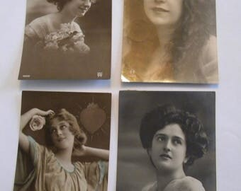 Early 1900's French Postcards - Set of 4