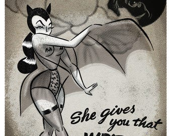 Burlesque Dracula's Daughter - Print