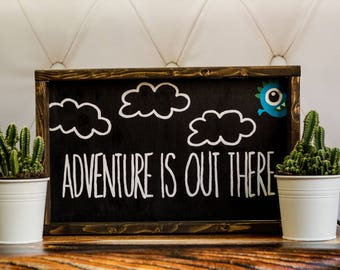 Adventures Is Out There Custom Nursery Decor Personalized Nursery Art Baby Room Decor Baby Shower Gift Nursery Wall Decor Kids Room Decor