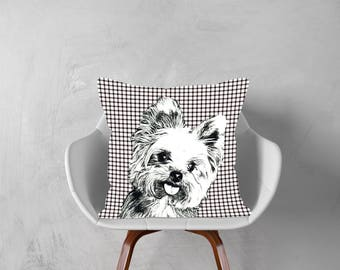 Yorkshire Terrier Dog,Yorki Gift,Decorative Pillow, Dog Pillowcase, Personalized Pet,Gift Love this Holiday Season or Brag About Your Pet.