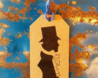 Gift Tags - Pack of 3 Gift Tags - Present Label - Birthday Gift Tag - Wedding Gift Tag - Dandy Gift Tag - Dandyism - Silhouette - Victoriana