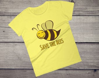 Save the bees T-Shirt, environment, nature Women's short sleeve t-shirt tshirt tee
