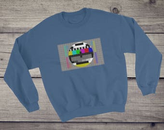 TV Test pattern Sweatshirt   Sheldon Cooper sweater   test card sweater   Short-Sleeve T-Shirt for nerds geeks   television