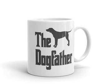 The Dogfather mug, Dalmatian silhouette, funny dog gift mug, The Godfather parody, dog lover mug, Dalmatian lover, Dalmatian gift