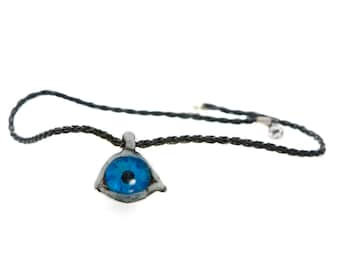 Evil eye,pendant,necklace,hand made,one of a kind