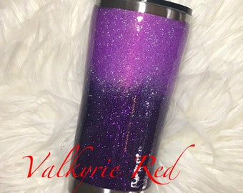 Glitter Dipped Ombré Tumbler with Lid