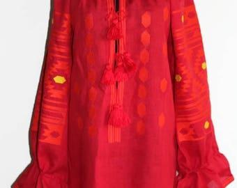 Vyshyvanka Ukrainian Tunic Mexican Embroidery Embroidered Dress Bohemian Clothes Boho Clothing Vishivanka Ethnic Ukraine Boho style Bohochic