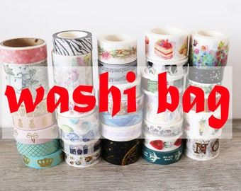 washi grab bag,washi bag,Random Washi Rolls Mystery Grab Bag,tape lucky bag,washi tape bag, washi tape
