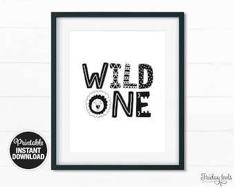Wild One Lion Printable Art, Nursery wall art, kids room poster, Printable digital download