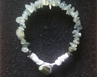 Prehnite and Hemp Cord Bracelet - Prehnite Bracelet - Healing Crystals - Positive Energy Spiritual Jewelry - Chakra Jewelry - Libra