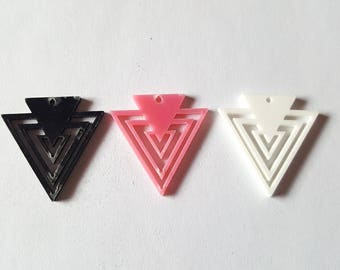 Triangle pendant, Acrylic triangle pendant, Jewellery pendant, Geometric pendant, Jewellery making, Triangle, Geometric